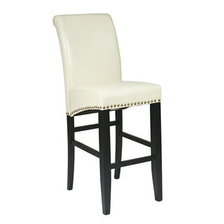 Metro Parson's Eco Leather Barstool with Nail Head Accents
