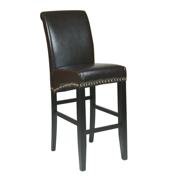 Metro Parson S Eco Leather 30 Inch Barstool With Nail Head
