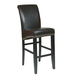 Metro Parson's Eco Leather 30-inch Barstool with Nail Head Accents