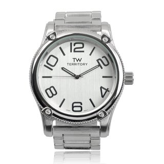 Territory Men's Round Face Quartz Link Band Watch