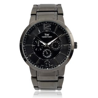 Territory Men's Large Round Face Link Bracelet Watch|https://ak1.ostkcdn.com/images/products/9584431/P16769893.jpg?impolicy=medium