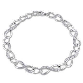 Miadora Sterling Silver 1/4ct TDW Diamond Infinity Link Bracelet (H-I, I2-I3)