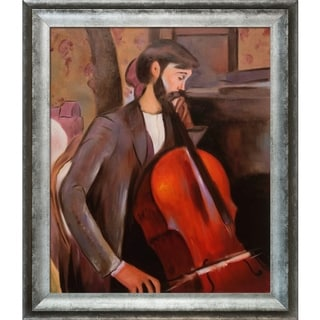 Amedeo Modigliani 'The Cellist' Hand-painted Framed Canvas-art