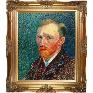 Vincent Van Gogh 'Self Portrait' Hand-painted Framed Canvas-art