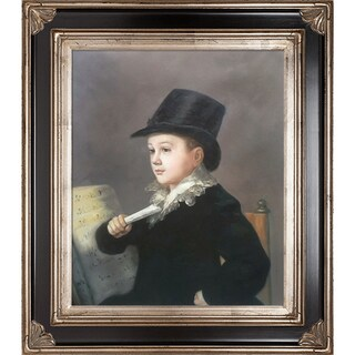 Francisco Goya 'Portrait of Mariano' Hand-painted Framed Canvas-art