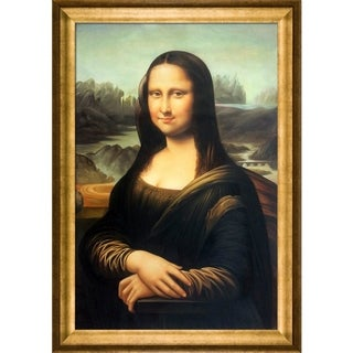 Leonardo da Vinci 'Mona Lisa' Hand-painted Framed Canvas-art