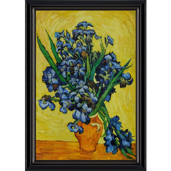 Vincent Van Gogh Irises In A Vase Hand Painted Framed Canvas Art