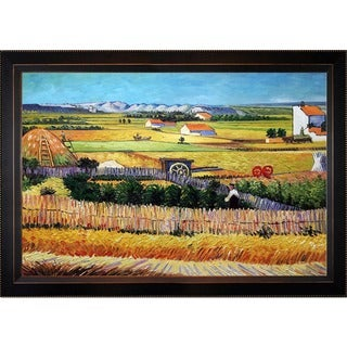 Vincent Van Gogh 'The Harvest' Hand-painted Framed Canvas-art