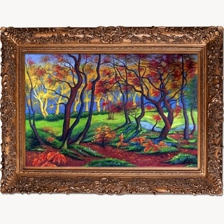 Paul-Elie Ranson 'The Clearing or Edge of the Wood' Hand-painted Framed Canvas-art