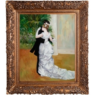 Pierre-Auguste Renoir 'Dance in The City' Hand-painted Framed Canvas-art