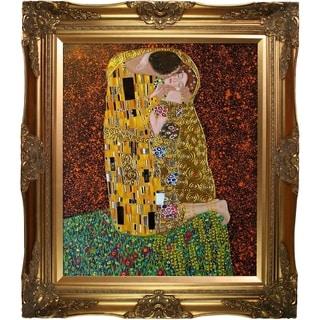 Gustav Klimt 'The Kiss' (Luxury Line) Hand Painted Oil Reproduction