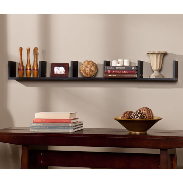 Porch & Den Hi-Line Modern Black MDF Shelf