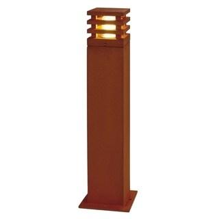 SLV Lighting Rusty Square 70 Bollard Fixture