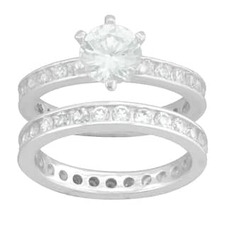 Sterling Silver White Round Cubic Zirconia Bridal-style Ring Set https://ak1.ostkcdn.com/images/products/9585173/P16770427.jpg?impolicy=medium