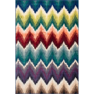 Skye Monet Multi Chevron Rug (5'2 x 7'7)