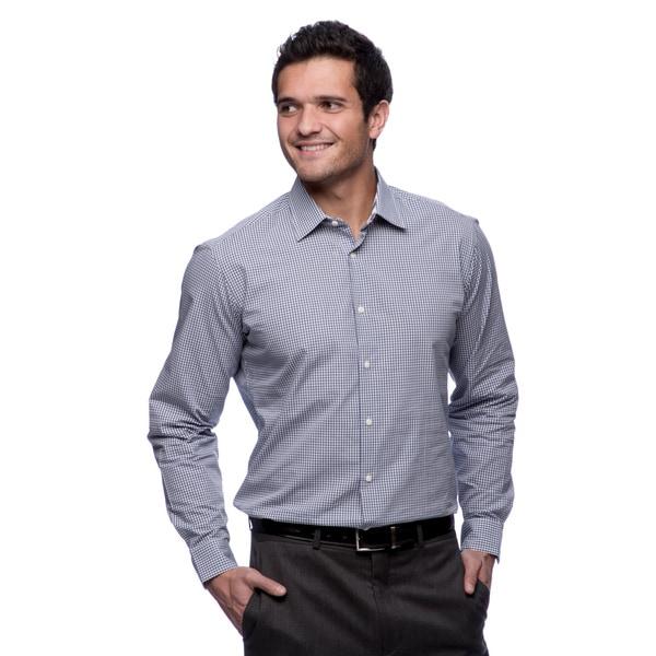 Ben Sherman Mens Super Slim Solid Dress Shirt