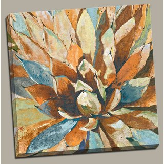Portfolio Canvas Decor 'Agave Hues' Large Framed Printed Canvas Wall Art