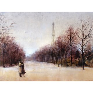 Portfolio Canvas Decor 'Paris in Love' Large Framed Printed Canvas Wall Art