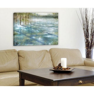 Portfolio Canvas Decor 'Water Trees' Large Framed Printed Canvas Wall Art