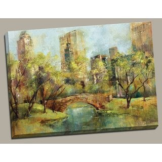 Portfolio Canvas Decor 'Spring in the Park' Large Framed Printed Canvas Wall Art