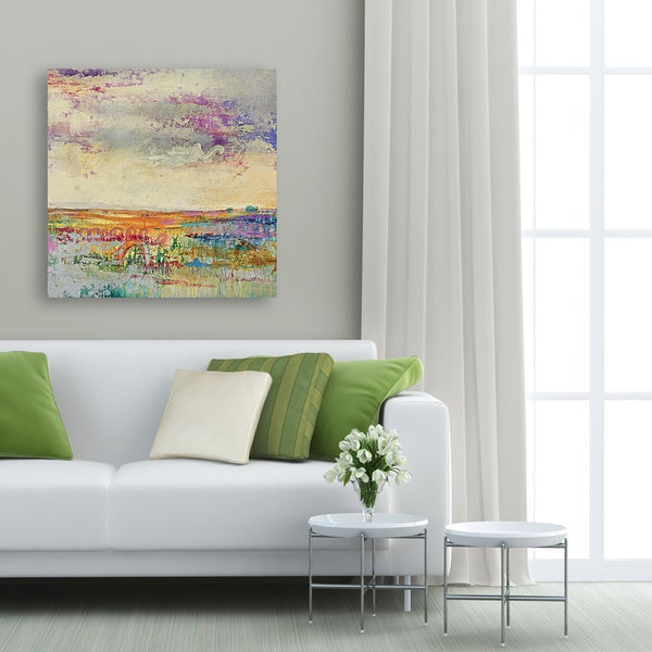 Canvas Decor Wildflower Sunrise I Large Framed Printed Canvas Wall Art