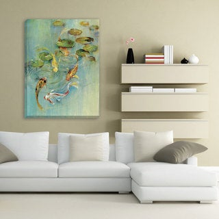 Portfolio Canvas Decor 'Koi at Play' Large Framed Printed Canvas Wall Art