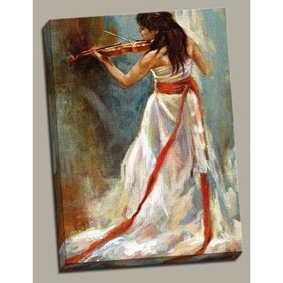 Portfolio Canvas Decor 'Violino' Large Framed Printed Canvas Wall Art