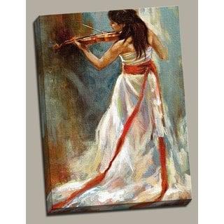 Portfolio Canvas Decor 'Violino' Large Framed Printed Canvas Wall Art