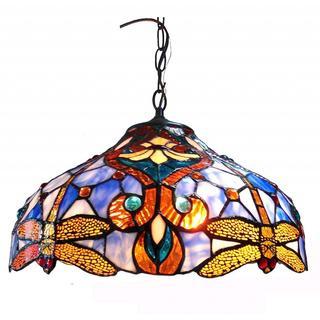 Chloe Tiffany Style Victorian/ Dragonfly Design 2-light Pendant