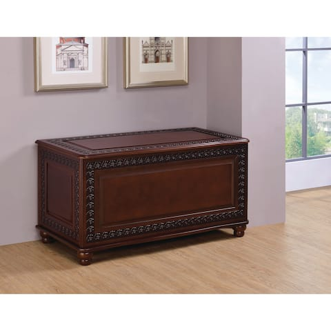 "Coaster Company Deep Brown Tobacco Wooden Cedar Chest - 40"" x 21"" x 22"""