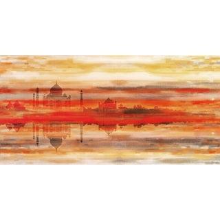 Red Palace Fine Art Canvas Print