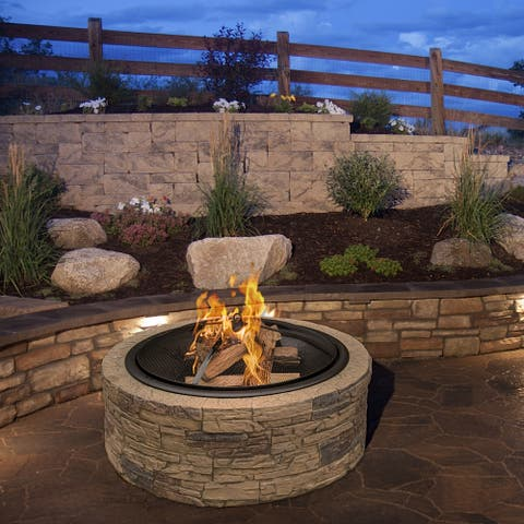 Round Cast Stone Fire Pit
