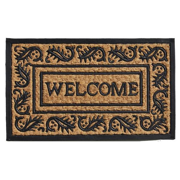 Shop Border Welcome Coir And Rubber Doormat 1 6 X 2 6