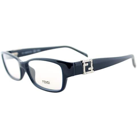 Fendi Women's Navy Rectangle Eyeglasses