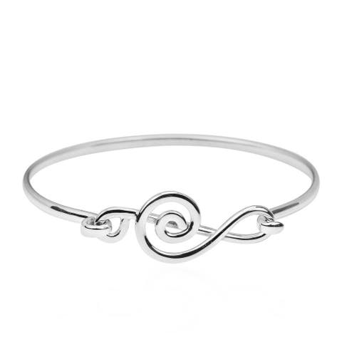 Handmade Musical Melody Treble Clef .925 Sterling Silver Bracelet (Thailand)
