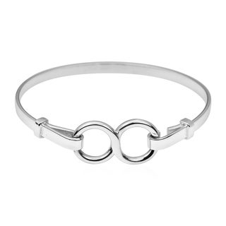 Handmade Unique Infinity Symbol .925 Sterling Silver Bracelet (Thailand)