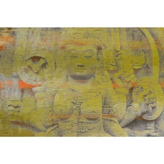 Marmont Hill - Handmade Yellow Goddess Canvas Art