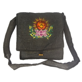 Hippie Bohemian Black Hemp Shoulder Bag (Nepal)