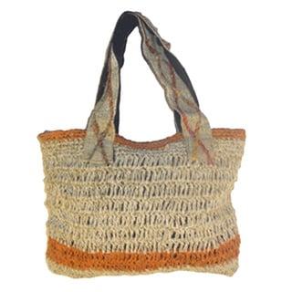 Women's Handmade Hemp Tote Handbag (Nepal)