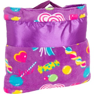 OC Daisy Candy Print Napbag Travel Blanket and Pillow Set