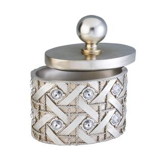 Silvertone Dazzle Jewelry Box