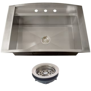 Ticor TR2000BG-TREG 16 Gauge Single Bowl Stainless Steel Overmount Drop-in Kitchen Sink