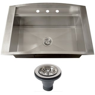 Ticor TR2000BG-DEL 16 Gauge Single Bowl Stainless Steel Overmount Drop-in Kitchen Sink
