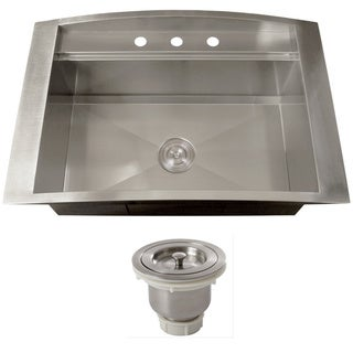 Ticor TR2000BG-BASK 16 Gauge Single Bowl Stainless Steel Overmount Drop-in Kitchen Sink