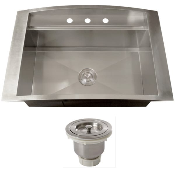 Ticor TR2000BG-BASK-DEL 16 Gauge Single Bowl Stainless Steel Overmount ...