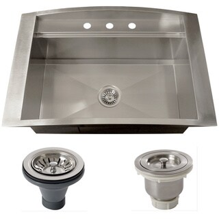 Ticor TR2000BG-BASK-DEL 16 Gauge Single Bowl Stainless Steel Overmount Drop-in Kitchen Sink
