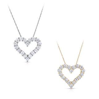 Eloquence 14k Gold 2ct TDW Diamond Heart Pendant