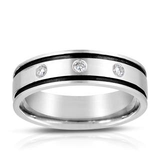 Eloquence 14k White Gold 1/8ct TDW Striped Men's Wedding Band|https://ak1.ostkcdn.com/images/products/9588798/P16773212.jpg?impolicy=medium