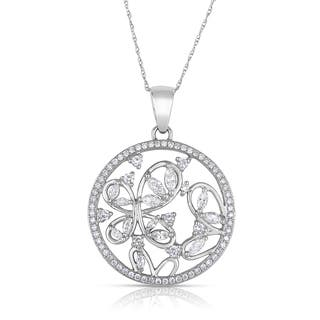Eloquence 14k White Gold 7/8ct TDW Diamond Pendant Necklace (J-K, SI1-SI2)|https://ak1.ostkcdn.com/images/products/9588854/P16773249.jpg?impolicy=medium