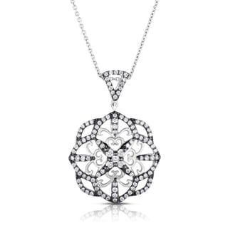 Eloquence 14k White Gold 4/5ct TDW Diamond Pendant (H-I, I1-I2)